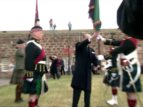 duke of edinburgh opens highlanders museum on march 26, 2013 in inverness, scotland - inverness scotland stock videos & royalty-free footage