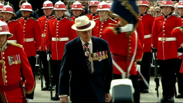 duke of edinburgh three day visit to canada presents new colours to royal canadian regiment various of the duke of edinburgh presenting new colours... - battalion stock videos & royalty-free footage