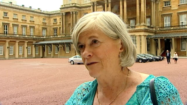 duke of edinburgh's 90th birthday; england: london: buckingham palace: ann widdecombe interview sot - ann widdecombe stock videos & royalty-free footage