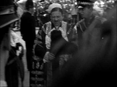 duke of kent speech at mansion house england london mansion house ext prince edward duke of kent and his fiancee katharine worsley greeted on arrival... - 1961 stock videos & royalty-free footage