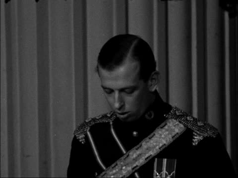 Duke of Kent speech at Mansion House ENGLAND London Mansion House INT Duke of Kent speech SOT Jokes about not moving about very much in contrast to...