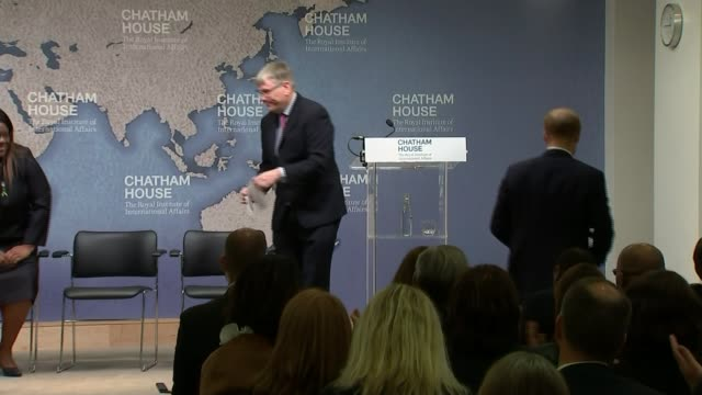 Duke of Sussex attends landmine clearance event at Chatham House UK London Prince Harry Duke of Sussex speech to Chatham House Africa Programme event...