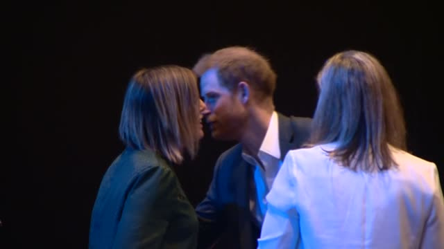 duke of sussex attends travalyst sustainable tourism summit in edinburgh scotland prince harry duke of sussex arrival at travalyst summit in... - auditorium stock videos & royalty-free footage