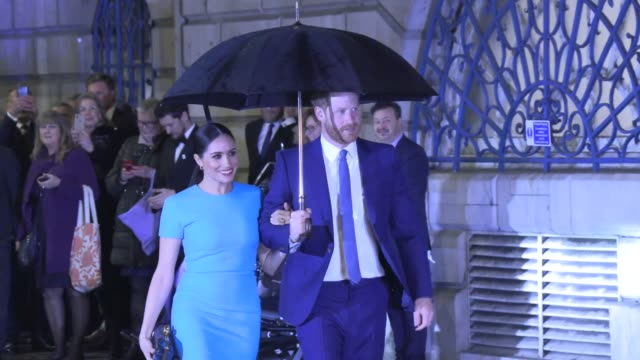 duke of sussex duchess of sussex attend the annual endeavour fund awards on march 05 2020 in dublin dublin - prince harry stock videos & royalty-free footage