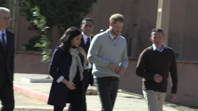Duke of Sussex Duchess of Sussex on February 24 2019 in Rabat Morocco