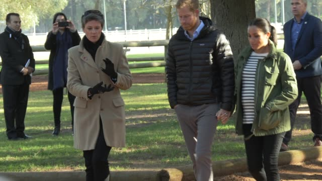 duke of sussex duchess of sussex on february 25 2019 in rabat morocco - サセックス点の映像素材/bロール