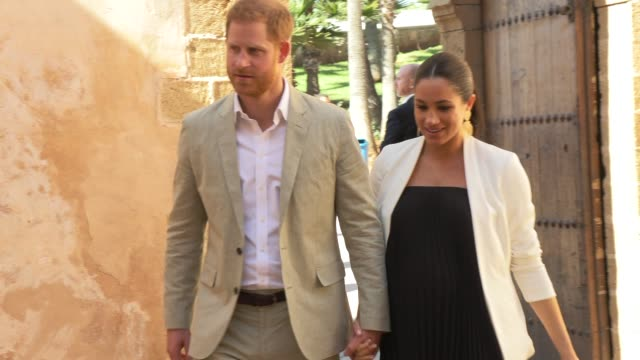 duke of sussex duchess of sussex on february 25 2019 in rabat morocco - rabat morocco stock videos & royalty-free footage