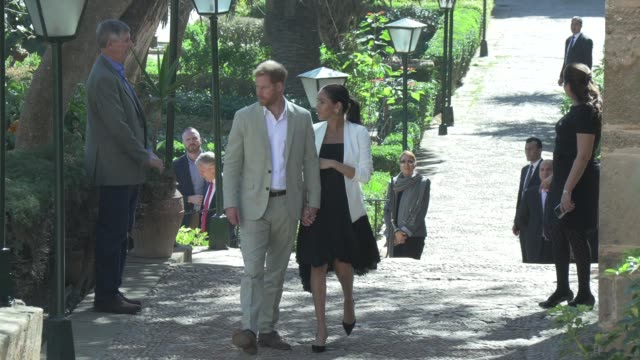 Duke of Sussex Duchess of Sussex on February 25 2019 in Rabat Morocco