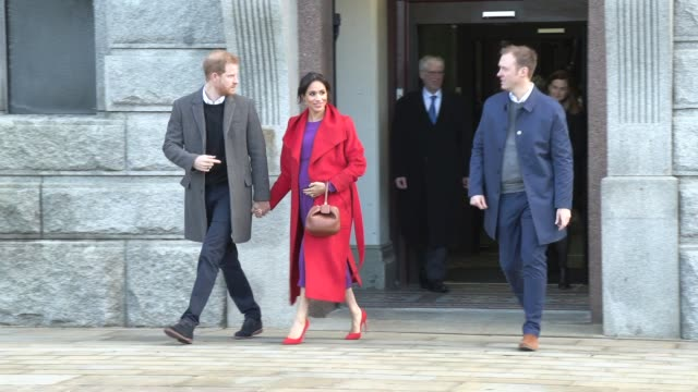 duke of sussex duchess of sussex on january 14 2019 in birkenhead england - prince harry stock videos & royalty-free footage