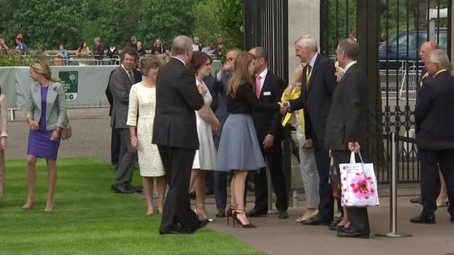Duke of York denies rift with Prince of Wales 2352016 / R23051617 EXT Prince Andrew arrival at Chelsea Flower Show with Princess Beatrice of York and...