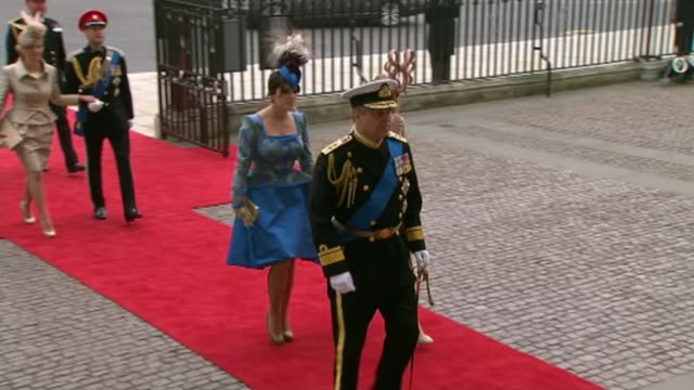 Duke of York denies rift with Prince of Wales 2942011 / R29041107 EXT Princess Beatrice Princess Eugenie and Prince Andrew Duke of York arrival at...