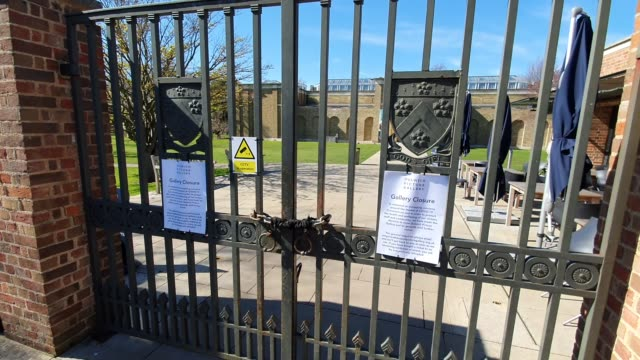 dulwich picture gallery closed during the coronavirus pandemic on march 23 2020 in london england - brian dayle coronavirus stock videos & royalty-free footage