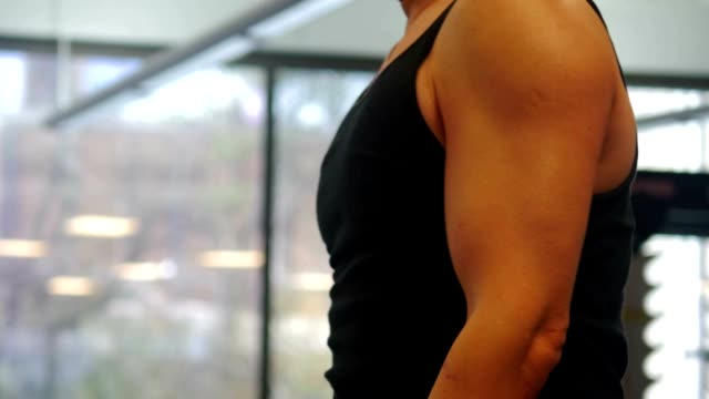 dumbbell arm muscle bicep curling exercise - arm curl stock videos and b-roll footage