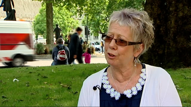 dumfries and galloway school staff win equal pay case ext karen korus set up shot with reporter / interview sot bronwyn mckenna interview sot... - dumfries and galloway stock videos & royalty-free footage