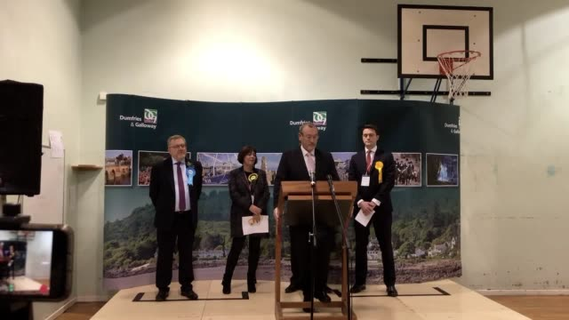 dumfriesshire clydesdale and tweeddale declaration conservative david mundell holds his seat in scotland it is one of the few scottish constituency... - zugpferd stock-videos und b-roll-filmmaterial