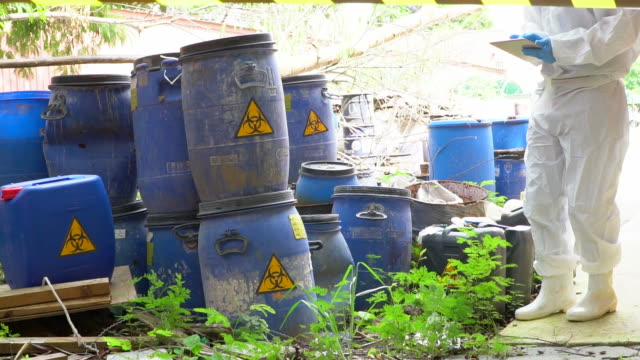 dump of toxic substances - toxic waste stock videos & royalty-free footage