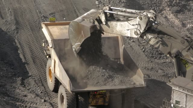 dump truck loaded with coal - mining natural resources stock videos & royalty-free footage