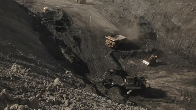 dump truck loaded with coal - coal mine stock videos and b-roll footage