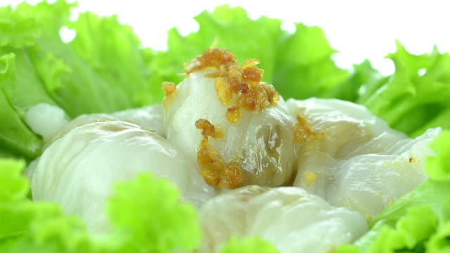 vídeos y material grabado en eventos de stock de raviolis - vegetal con hoja