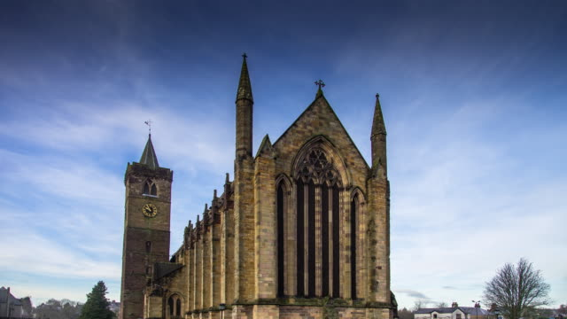 dunblane cathedral - time lapse - stirling stock videos & royalty-free footage