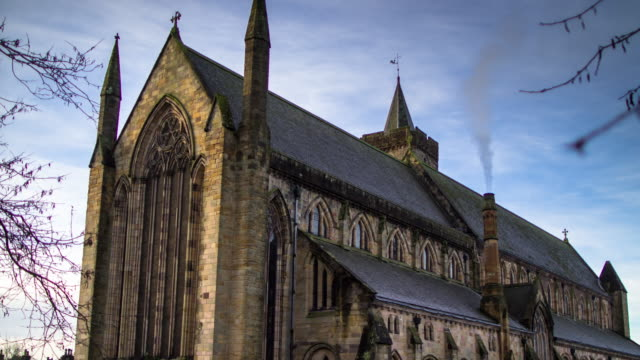 dunblane cathedral - time lapse - dunblane stock videos & royalty-free footage