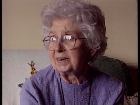 stockvideo's en b-roll-footage met aftermath ms betty tolladay on crutches at home cms betty's injured foot cms betty takes seat at home betty tolladay intvwd sot as years go by things... - wiltshire
