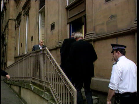 cullen report released; c)c4n scotland: glasgow: lord cullen along r-l - dunblane stock videos & royalty-free footage