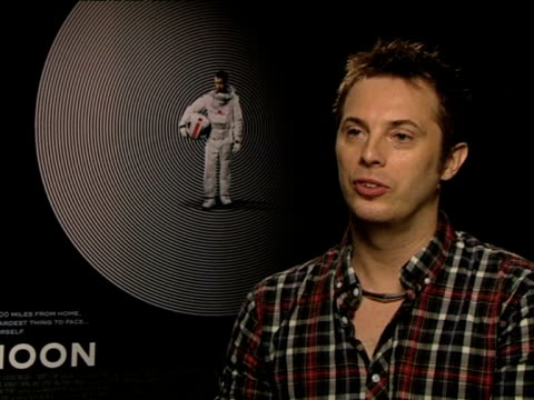 duncan jones on how his father influenced his creativity at the moon interview at london england. - persuasion stock videos & royalty-free footage