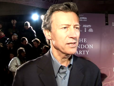 stockvideo's en b-roll-footage met duncan kenworthy, chairman of the baftas, talks about the importance of the ceremony and celebrating films at the pre-bafta awards party: the london... - voorzitter