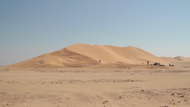 ws dune 7 desert / walvis bay, erongo, namibia - sand dune stock videos & royalty-free footage