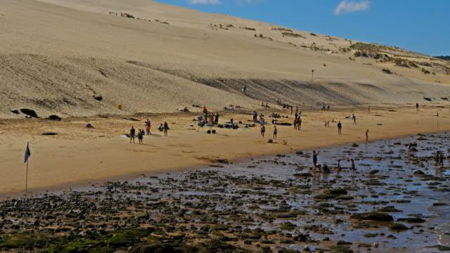 dune du pilat, gironde,nouvelle aquitaine, france - nouvelle aquitaine stock videos & royalty-free footage
