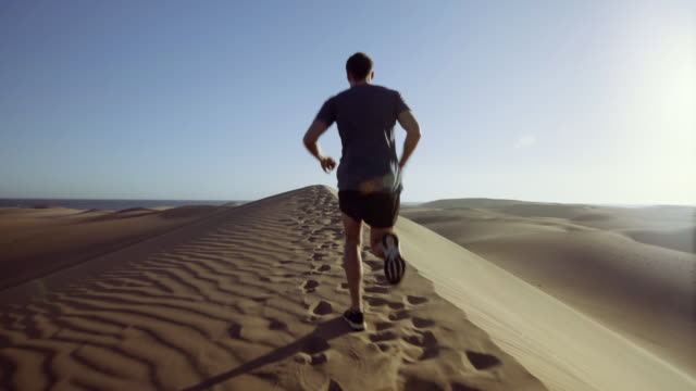 dune running - grand canary stock videos and b-roll footage