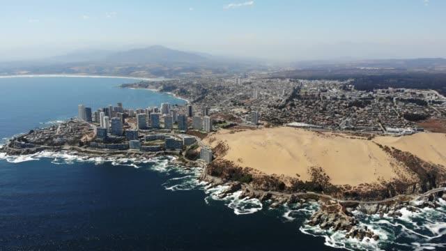 dunes of concón/concon dunes - mar stock videos & royalty-free footage
