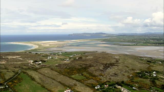 dunfanaghyの -航空写真-アルスター、ドニゴール、アイルランド - アルスター州点の映像素材/bロール