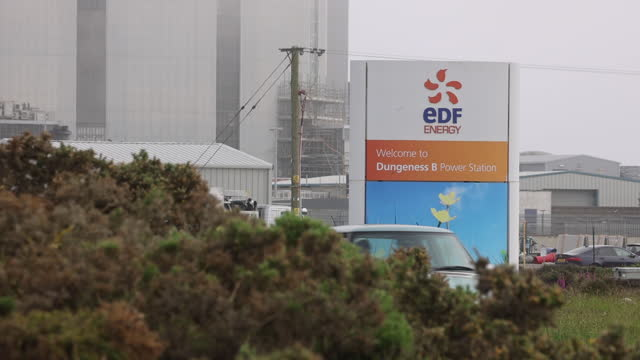 dungeness 'b' nuclear power station as edf shares plans to close it early, in dungeness, kent, u.k. on thursday, june 10, 2021. - power line stock videos & royalty-free footage
