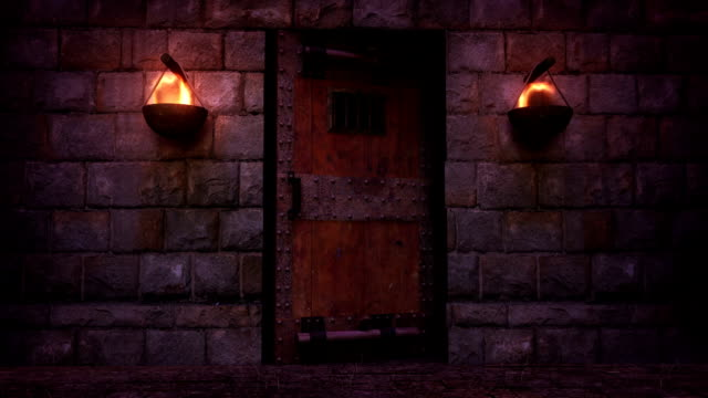 dungeon door opening - jail cell stock videos & royalty-free footage