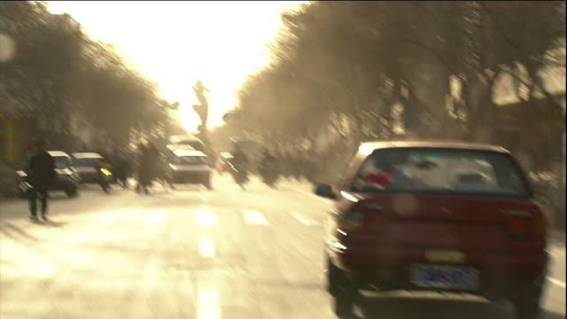 Dunhuang City streets Dolly shot