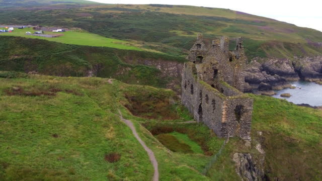 dunksey castle - scotland stock videos & royalty-free footage