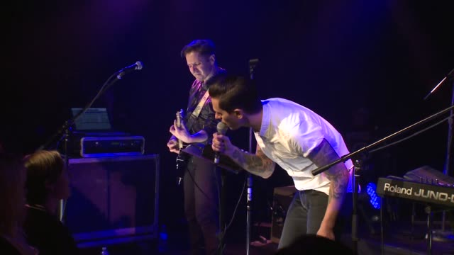 duo night terrors of 1927 brought their electric pop/rock sound to the jbtv stage with their song, 'always take you back.' - moderne rockmusik stock-videos und b-roll-filmmaterial