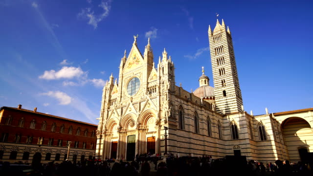 duomo di siena or metropolitan cathedral of santa maria assunta in siena - cathedral stock videos & royalty-free footage