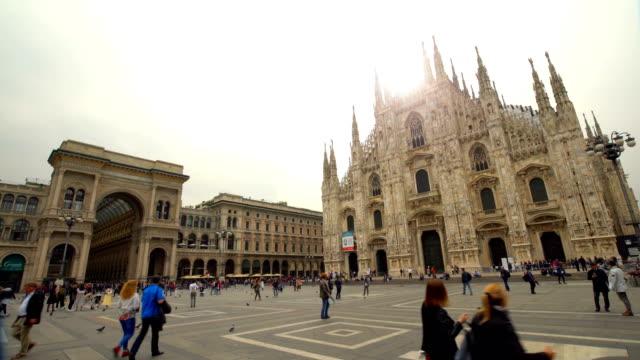 Duomo Milan City , Time Lapse