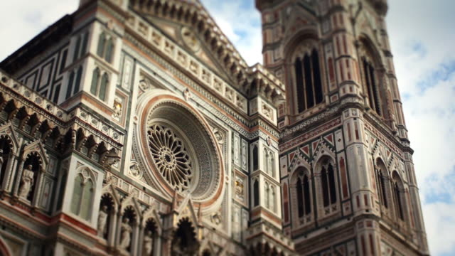 duomo santa maria del fiore in florence video hd - unesco stock videos & royalty-free footage