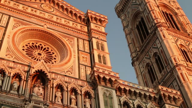 duomo santa maria del fiore in florence video hd - florence italy stock videos and b-roll footage
