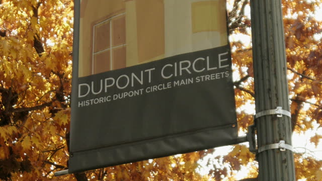 dupont circle neighborhood on november 13 2011 in washington dc - dupont circle stock videos & royalty-free footage