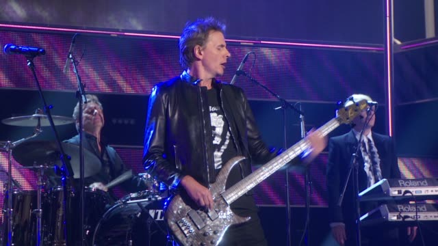 stockvideo's en b-roll-footage met performance duran duran at fashion rocks 2014 at barclays center on september 09 2014 in new york city - duran duran