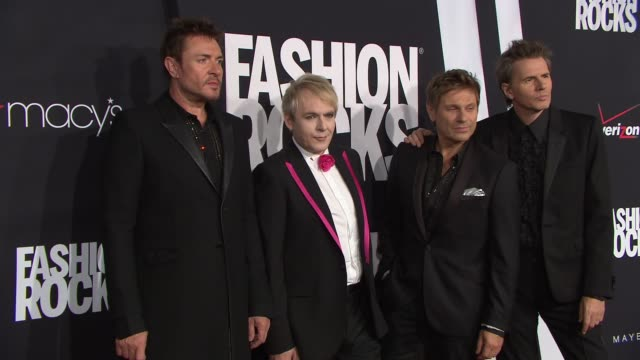 stockvideo's en b-roll-footage met duran duran at fashion rocks 2014 at barclays center on september 09 2014 in new york city - duran duran