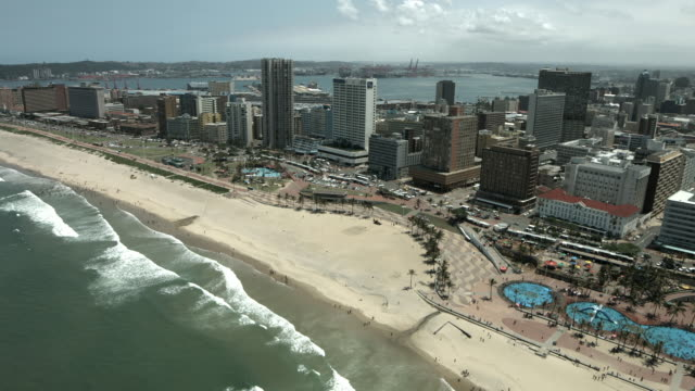 durban aerial. - durban stock videos and b-roll footage