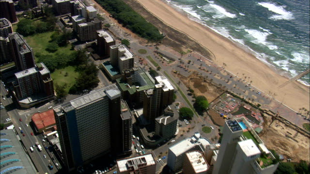 durban  - aerial view - kwazulu-natal,  ethekwini metropolitan municipality,  ethekwini,  south africa - durban stock videos and b-roll footage