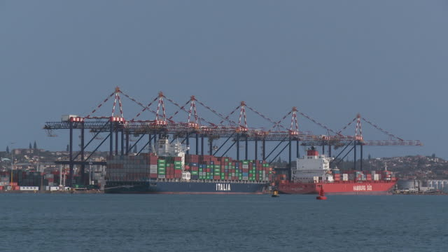 MS Durban container port with cranes / Durban, South Africa