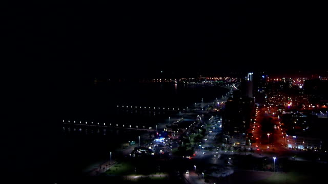 ws ha durban harbor at night / durban/ south africa - durban stock videos and b-roll footage